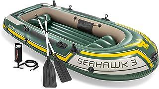 Intex 68380np Bateau Gonflable Seahawk 3 Vert Jaune 2.95m x 1.37m x 0.43m