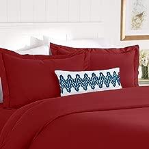 Elegant Comfort Best, Softest, Coziest Duvet Cover Ever! 1500 Thread Count Egyptian Quality Luxury Super Soft WRINKLE FREE 3-Piece Duvet Cover Set, Full/Queen, Burgundy