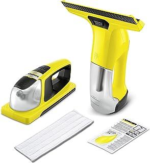 Kärcher Window Vac WV 6 y Window Cleaner KV 4 - Pack de limpiadora a batería (aspirador limpiacristales) y fregador a batería con vibración para ventanas (1.633-570.0)