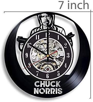 Gifts by N Chuck Norris Vinyl Record Wall Clock, Chuck Norris Actor, Chuck Norris Martial Artist, Chuck Norris Artwork, Chuck Norris Art, Chuck Norris Decor, Chuck Norris Film, Chuck Norris Clock