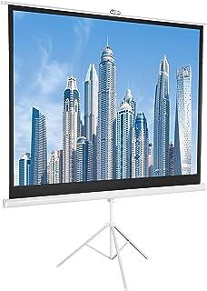 AmazonBasics 4:3 Portable Projector Screen - 100 Inch, White