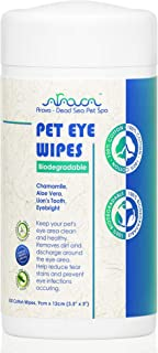 Arava Dead Sea Pet Spa - Pet Eye Wipes Biodegradable - Keeps Your Furry Friends Eye Area Clean and Healthy - Removes Dirt ...