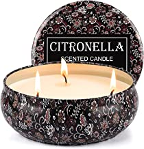 Tobeape Citronella Candles, Natural Scented Soy Wax Candle, Portable Travel Tin Candle for Stress Relief- Indoor and Outdoor