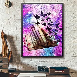 Iulove Fun Butterfly 30 40cm Non-Full Drilling 5D Embroidery Paintings Rhinestone Pasted DIY Diamond Painting Cross Stitch,Man-Made Diamonds Setting Skills