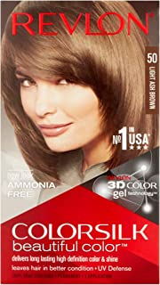 Revlon ColorSilk Hair Color, 50 Light Ash Brown 1 ea (Pack of 12)