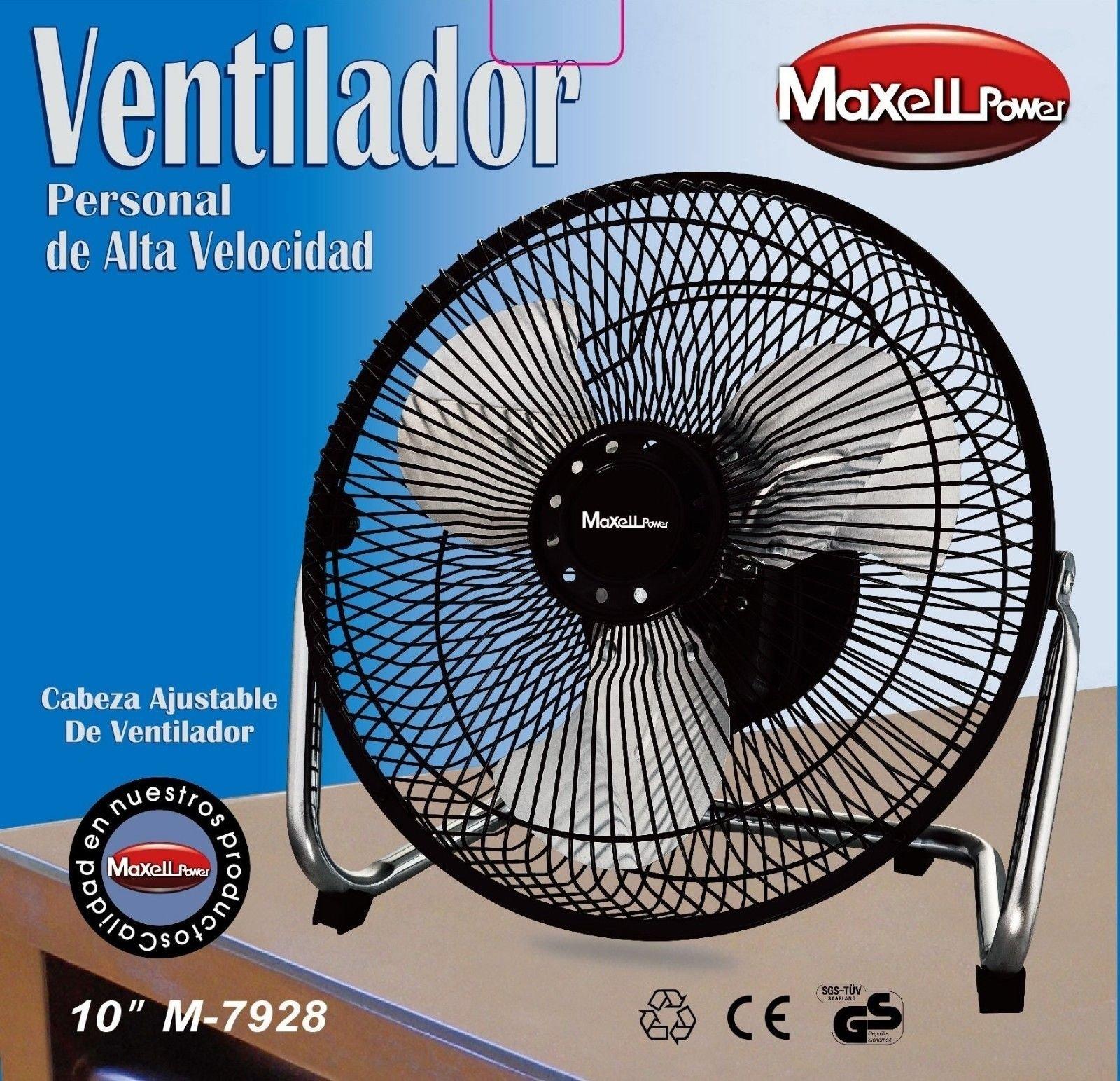 Maxell Power CE VENTILADOR INDUSTRIAL DE SOBREMESA 10 PULGADAS ...