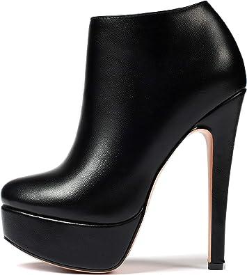 EDEFS Stivali Donna,Stivali Alti Donna,High Heel Ankle Boots,Plateau Scarpe da donna