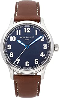 Patek Philippe Calatrava Mechanical (Automatic) Blue Dial Mens Watch 5522A-001 (Certified Pre-Owned)