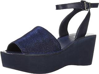 3b65df06089 Kenneth Cole REACTION Women s Dine with Me Eva Platform Ankle Strap Wedge  Sandal
