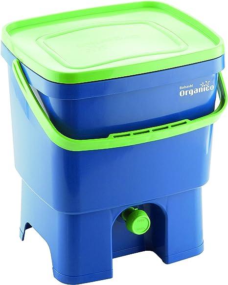 Bokashi 19750069 - Compostador orgánico y activador, Azul/Verde, 16l: Amazon.es: Hogar