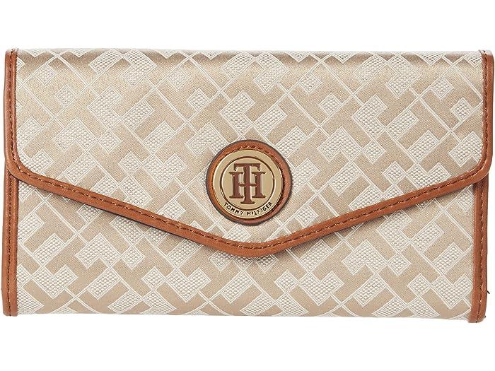 Tommy Hilfiger Tommy Hilfiger Large-Continental Envelope Wallet-Geometric Jacquard