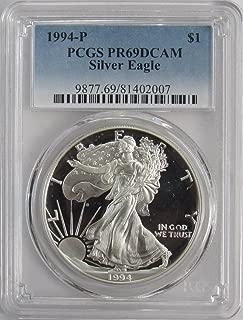 1994 P American Silver Eagle $1 PR69DCAM PCGS