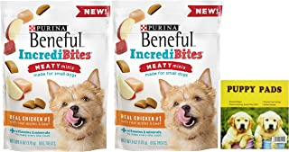 Purina Beneful Incredibites Small Dog Treats. Easy One-Stop Shopping for Real Chicken Flavored Purina Dry Snacks for Canines. Puppies Love Em! Also Includes a Dependable Puppy Pad.