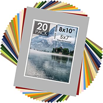 Pack of 10 PURPLE 11x14 Picture Mats Matting with White Core Bevel Cut for 8x10 Pictures