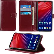 CH-IC Wallet Case Compatible with Moto Z4 2019,Premium PU Flip Folio Leather Phone Cover with [Kickstand Feature][Magnetic Closure][ID&Credit Card Pockets] for Motorola Moto Z4 (Red)