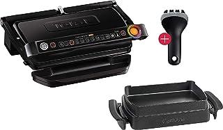 Tefal OptiGrill Plus XL-Grillfläche intelligenter Kontaktgrill, 9 Grillprogramme, Ideale Grillergebnisse blutig bis durchgebraten, antihaftversiegelte Aluguss-Platten
