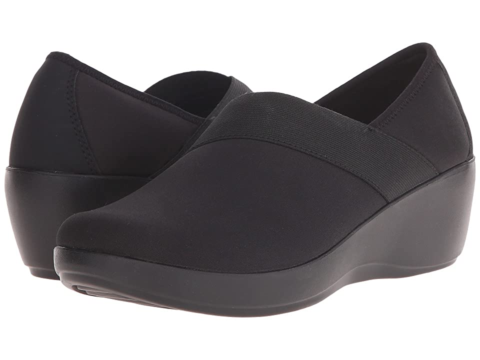 Crocs Busy Day Stretch Asymmetrical Wedge (Black/Black) Women