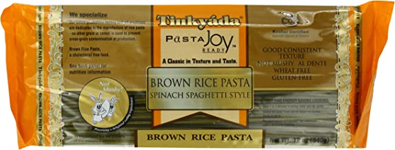 Tinkyada Brown Rice Pasta, Spaghetti with Spinach, 12 Ounce (Pack of 12)