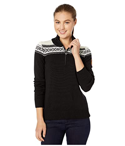 Dale of Norway Cortina Merino Feminine Sweater (Black/Off-White) Women