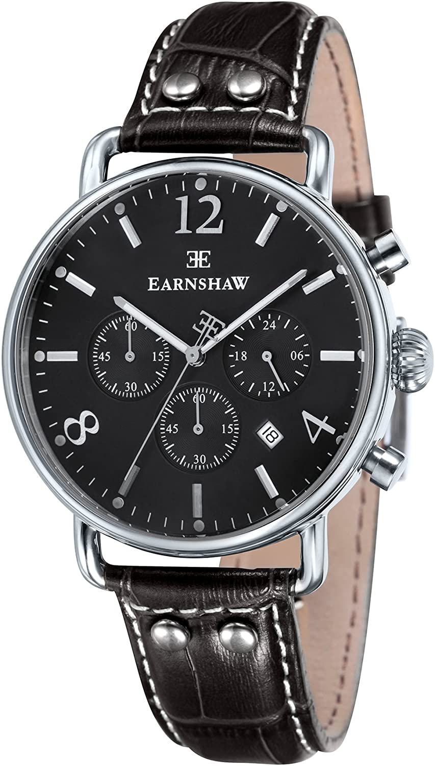1 year warranty Thomas Earnshaw Men's Investigator Stainless Al sold out. Steel Japanese-Quar