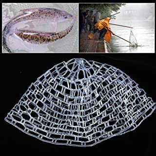 Rubber Fishing Net Outdoor Fly Fishing Landing Net Clear Rubber Replacement Mesh Bag Fish Mesh Catch and Release Net