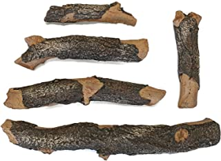 Midwest Hearth Deluxe Decorative Branch and Twig Set | Cast From Real Logs and Hand Painted in USA (Blue Pine 5-Piece)