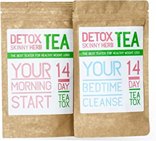 14 Days Teatox: Detox Skinny Herb Tea - Effective Detox Tea, Body Cleanse, Reduce Bloating, Natural Weight Loss Tea, Boost Metabolism, Appetite Suppressant / 100% NATURAL