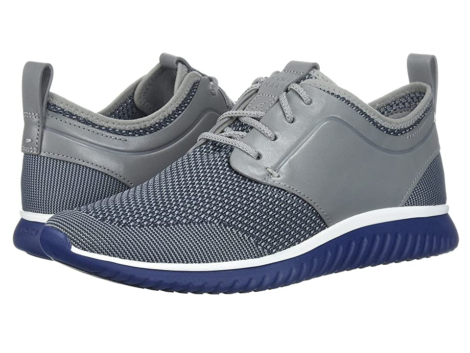 Cole Haan Grand Motion Knit (Gray/Optic White/Tidal Blue) Men