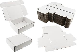 Lot de 25 boîtes postales Blanc expédition cadeau Boîte Carton de petite Parcelle ? Dimensions : 20 cm x 15 cm x 6 cm-? 8 x 6 x 6 cm-Livraison rapide