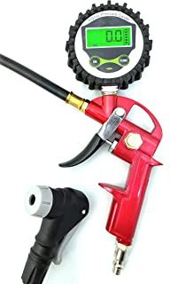 GrimmTools - Digital Universal Bicycle Tire Inflator for Presta and Schrader valves