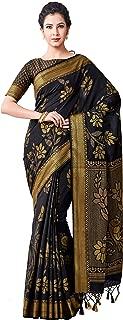 MIMOSA Kanjivaram Style Artifical Silk Saree Color: Black (4503-2398-SD-BLK)
