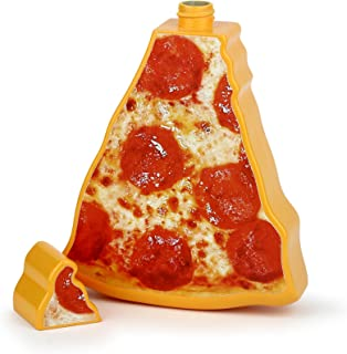 Barbuzzo Sippin Slice On-the-Go Drinking Bottle - 16 Ounce Portable Pizza Shaped Hydration Sports Bottle - Large Pizza Flask and Beverage Container - Great Gag Gift - Perfect for Pizza Lovers