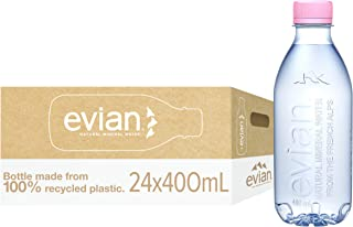 Evian ( Recycled Bottles ) Natural Mineral water 24 X 400 ML
