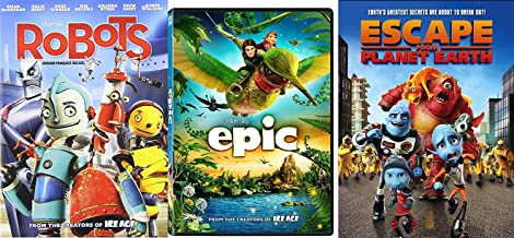 Escape from Planet Earth + Epic & Robots DVD Cartoons from the creators of Ice Age Movie Animated Set