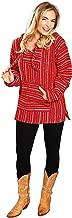 El Paso Designs Mexican Style Baja Hoodie Poncho | Jergas Unisex (View Sizes, Colors)