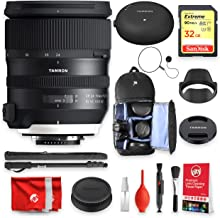Tamron SP 24-70mm F/2.8 Di VC USD G2 for Nikon with Tap-in Console + SanDisk Extreme 32GB Memory + Backpack Essentials Bundle (13pc)(Tamron 6 Year Limited USA Warranty)