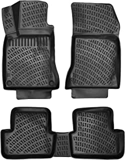 Crocliner Floor Mats Front and Rear All Weather Custom Fit Floor Liner for Mercedes CLA / 2014-2019 (Mercedes CLA / 2014-2019)