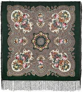 Authentic Russian Pavlovo Posad Shawl w/silk fringe #181409 (35