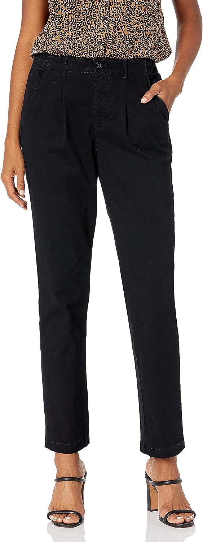 Gloria Vanderbilt Women's Rear Elastic High Waist Pleated Chino Pants at  Women's Clothing store