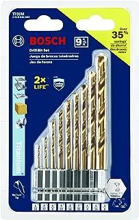 Bosch 9-Piece Impact Tough Titanium Drill Bit Set, TI9IM