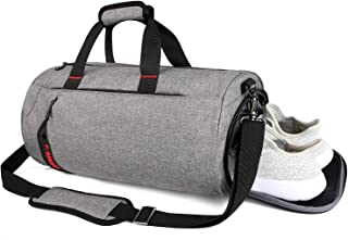 SCIONE Sports Gym Bag for Men Waterproof Travel Duffel Bag for Women with Wet Pocket & Shoes Compartment