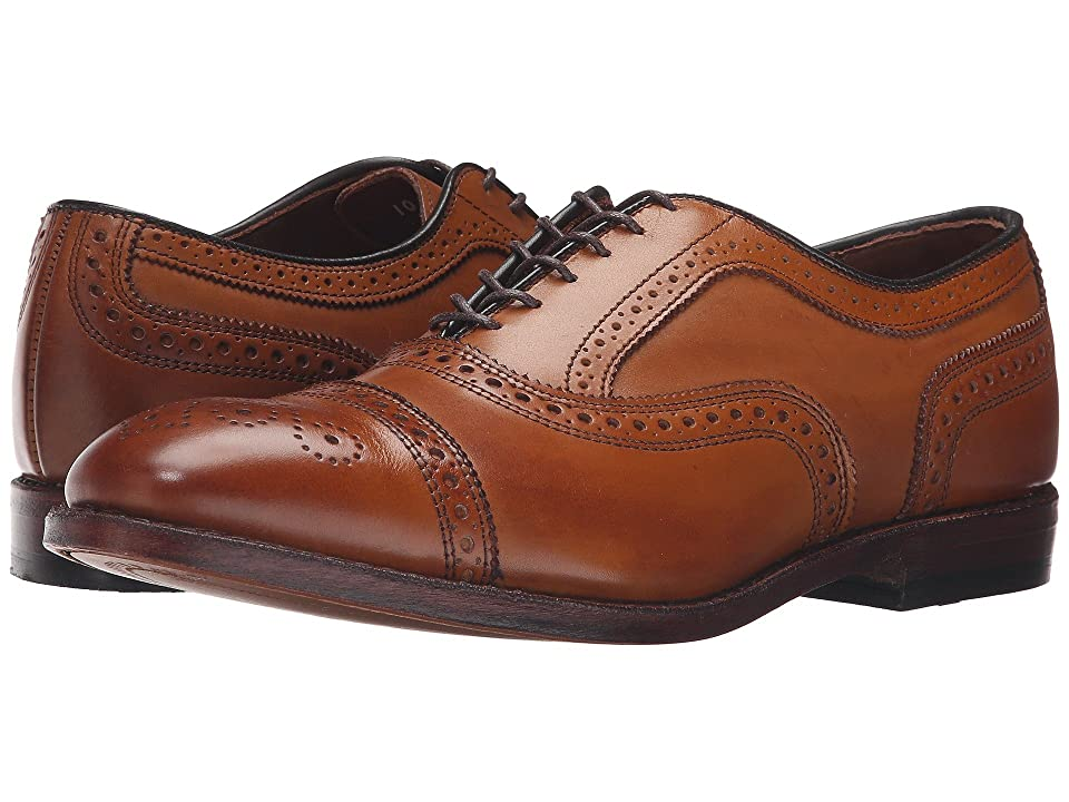 1920s Style Mens Shoes | Peaky Blinders Boots Allen Edmonds Strand Walnut Calf Mens Lace Up Cap Toe Shoes $394.95 AT vintagedancer.com