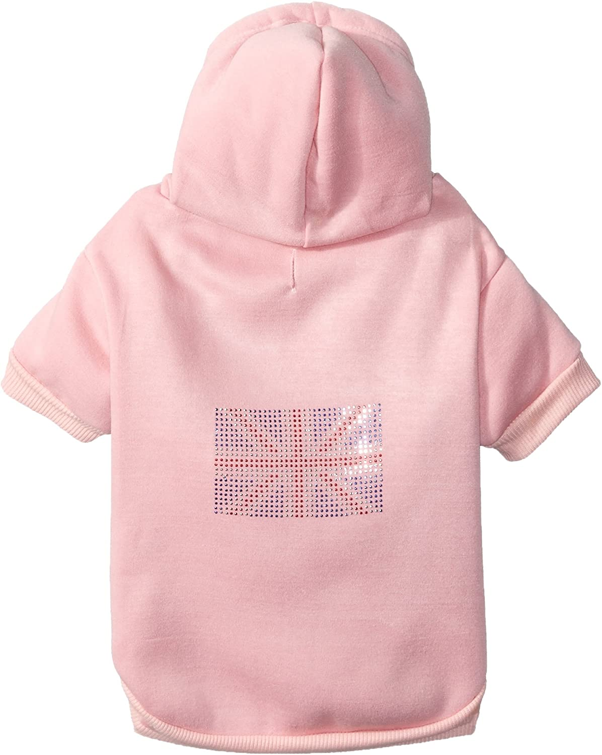 Mirage British Flag Dog Hoodies, XLarge, Pink