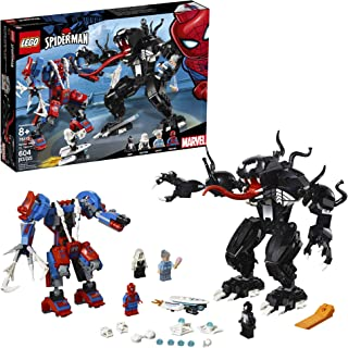 LEGO Super Heroes Marvel Spider Mech Vs. Venom 76115 Action Toy Building Kit with Web..