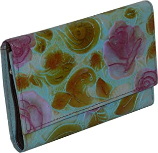 LAVERI Blue Leather For Women - Trifold Wallets
