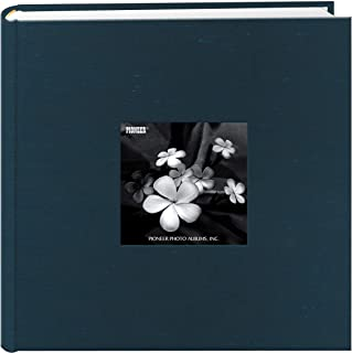 Pioneer DA-200SKF/LA Photo Albums 200 Pocket Lagoon Silk Fabric Frame Cover Photo Album for 4 by 6-Inch Prints