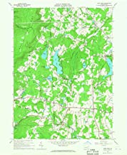 YellowMaps Lake Ariel PA topo map, 1:24000 Scale, 7.5 X 7.5 Minute, Historical, 1966, Updated 1967, 26.9 x 22.1 in
