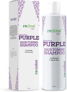 Purple Shampoo for Blonde Hair Toner for Blond Silver Hair Gray Hair Sulfate Free Brightening Toning Blue Shampoo Violet Purple Hair Toner for Bleached Hair Yellow Brass Blonds or Color Treated Hair