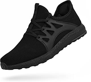 Feetmat Womens Sneakers Ultra Lightweight Breathable Mesh Athletic Walking Running Shoes Black Size: 6