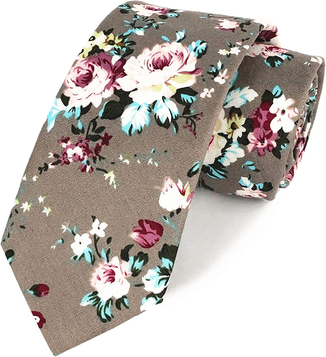 Men's Cotton Printed Floral Don't miss the campaign Novelty Ties Direct sale of manufacturer Necktie Skinny Wedding